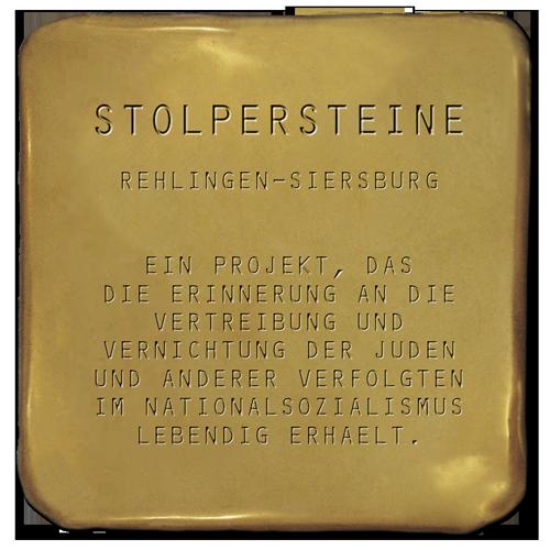 Stolpersteine Rehlingen-Siersburg